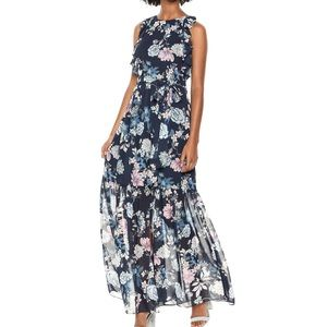 NWOT SIZE 4 and 6P floral maxi dress